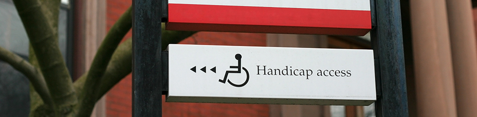 'Handicap Access' sign